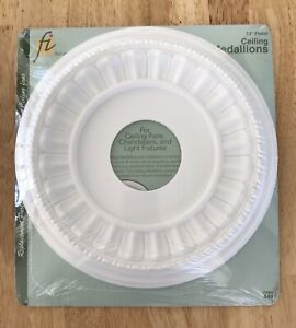 """Ceiling Medallion Floral White 11"""" Item #449 Made in USA"""