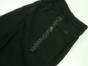 Peter Millar Crown Sport Black Flat Front Golf Dress Pants