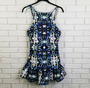 Finders Keepers Mesmerise Flare Bottom Dress S Kaleidoscope Print $185 NEW