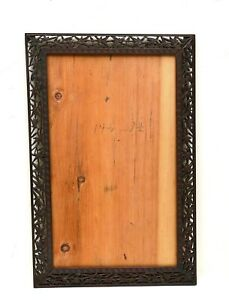 Early 20C Chinese Wood Carved Carving Photograph Picture Frame Plaque Bamboo $250.00