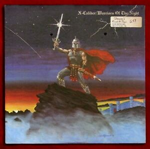 X-CALIBER Warriors Of The Night RARE Mint SEALED Orig 1986 1st pressing Metal LP