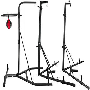 2in1 Boxing Bag Punch Bag Stand Pull Up Station Bracket Frame Exercise Fitness