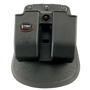 Fobus 6909NDRP Double Mag Pouch 9mm 357 and 40 Cal Roto Paddle Black