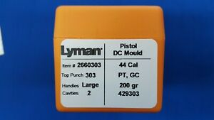 LYMAN Pistol DC Mould Double Cavity 44 Cal Bullet # 429303 PT GC - NEW