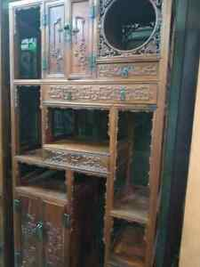 Rare China Huang Huali / Hua li Wood Furniture Cabinet Cardboard collector item