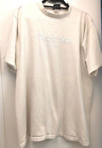 Vintage Golds Gym USA Single Stitch Embroidered Logo XL Tan Graphic T Shirt $24.99