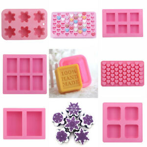 Silicone Ice Cube Candy Chocolate Cake Cookie Cupcake Soap Molds Mould DIY Tool