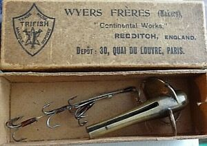 Wyers Freres Plongeur fishing lure split devon antique mib Paris rarest tackle