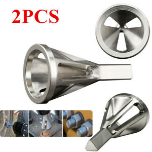 2pc Deburring External Chamfer Tool Drill Bit Remove Burr Stainless Steel Silver