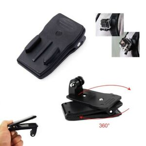 For Gopro Hero 6 7 5 4 3+3 Rotary 360° Backpack Hat Belt Clip Fast Clamp Mount