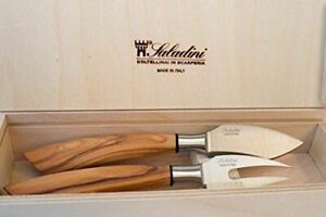 Beautiful Italian Hard Cheese Knife and Fork Set With High Carbon Stainless Stee