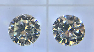 0.38ctw 38ctw 3.75mm Loose Round Diamond Pair VVS2 JK We can set in studs.