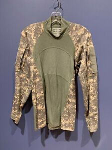 MILITARY SURPLUS ACU Green ARMY COMBAT SHIRT SIZE XS FLAME RESISTANT