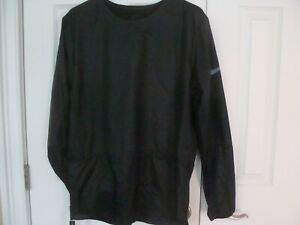 MENS NIKE RUNNING DIVISION CREW RUNNING JACKET TRIPLE BLACK 928497 010 SIZE S L $39.99