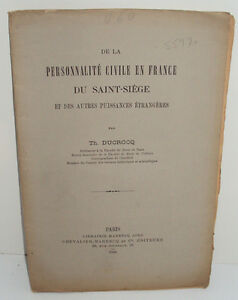 The Personality Civil IN France The Holy See And Of Other Wattage 1894 $30.41