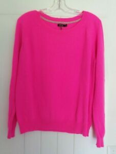 100% CASHMERE Cutters Craft Upcycle  - HOT PINK - Sweater size Extra Large
