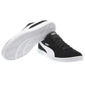 New Puma Men's Suede Smash Black White Casual Sneakers Shoes Pick Size