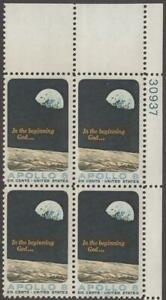 Scott # 1371 - US Plate Block Of 4 - Apollo 8 Space Mission - MNH - 1969