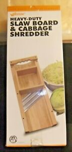 NEW WESTON 70-1401 WOODEN CABBAGE SHREDDER SLAW CUTTING BOARD SS BLADES 8140659