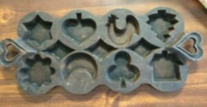 Vintage Cast Iron Muffin Cornbread Pan 8 Gem Baking Mold Old Made In Colombia