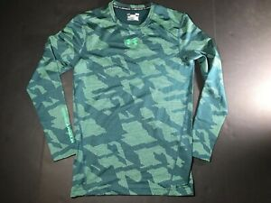 Mens Under Armour Cold Gear Camo Compression Shirt Long Sleeve Large $33.00