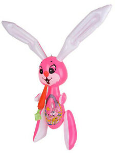 Large 48quot; Pink Inflatable Easter Bunny Rabbit With Carrot Toy Decoration $14.99