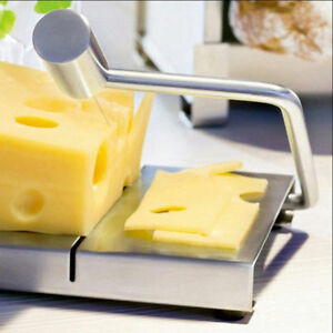 Stainless Steel Cheese Slicer Kitchen Food Bread Wire Cutting Tool Cutter Board