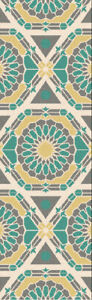 Surya KAL-8001 Kaleidoscope Transitional Global Olive 2'6