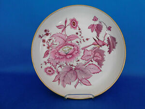 Herend Hand painted red flower pattern wall plate porcelain