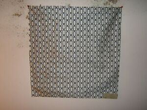 Beacon Hill Art Angle Geometric 100% Silk Remnant Color Black and White $24.00