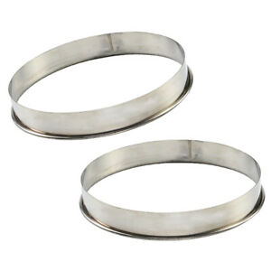 2x Pizza Saucing Ring for 8inch Pan Home Muffin Pancake Pizza Prep Tool 7''