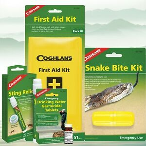 Emergency Pack Includes First Aid kit  Snake Bite Kit Water Purifying Tablets