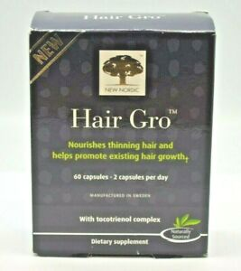 New Nordic Hair Gro with tocitrienol complex 60 Capsules. EXP:82020 +.