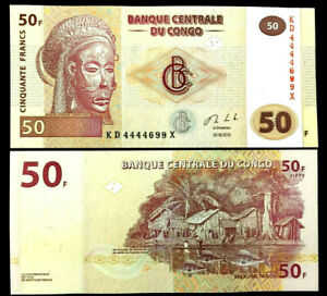 CONGO 50 Francs Year 2013 Banknote World Paper Money UNC Currency Bill $2.50