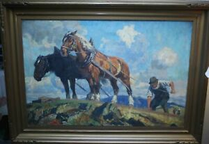 Georg (Jorg) Hanel German Painting Gold Colored Antique 42