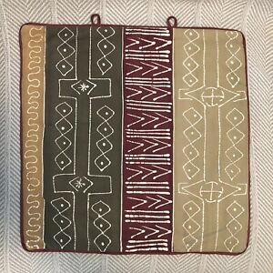 Southwestern Earthy Warm Colors Patterned Pillow Cover Appx 18x18quot;