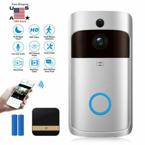 Wireless Wi-Fi Smart 720P Visual Video Doorbell Bell For IOS Android CellPhone