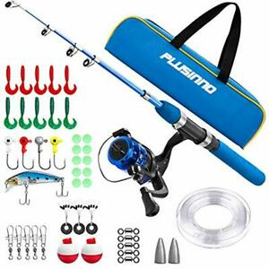 Kids Fishing PoleLight and Portable Telescopic Fishing Rod and Reel Combos for