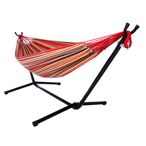 Outdoor Camping Suspension Hammock Portable Swing Holiday Polyester Set US