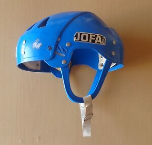 Vintage JOFA Ice Hockey Helmet Game Worn Norwegian league Norway
