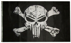 3x5 Pirate Storm Trooper Demon Punisher Skull Poison Pirate Black Flag Banner