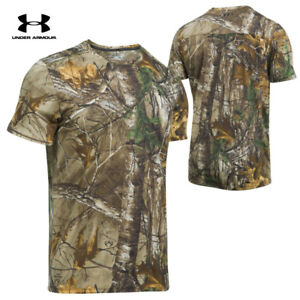 NEW Under Armour Threadborne Early Season Men RealTree Camo Shirt 1298961 946 $21.80