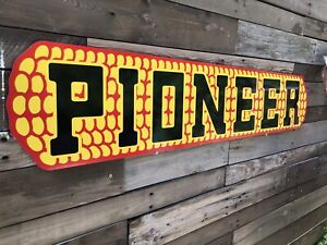 Antique Vintage Old Style Pioneer Corn Seed Feed Sign $67.15
