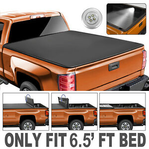 4 FOLD Tonneau Cover For 2009-2014 Ford F-150 Truck 6.5 FT Bed
