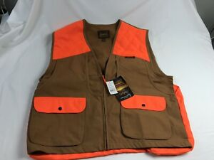Gamehide Mens Briar Proof Upland Vest Size XL Front Loading Brown