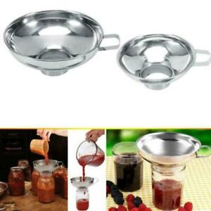 Stainless Steel Wide Mouth Canning Funnel Rice Cereal Tool Hopper Kitchen F F3W2