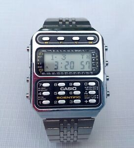 1980's Casio Scientific CFX-200 197 Stainless Steel Men's Watch Japan M