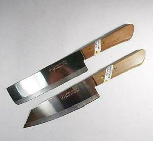Set of 2 KIWI - Chef's Knife Cook Utility Knives #172, #173  - Made in ThaiLan