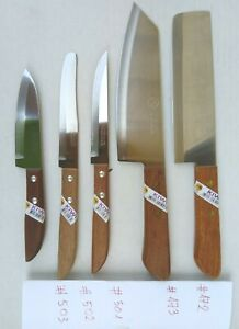 Set of 5 KIWI -Chef's Knife Cook Utility Knives 501, 502, 503, 172, 173 Thailand