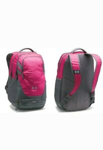 New With Tags Under Armour Team Hustle 3.0 Backpack Laptop Bag pink
